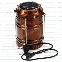 6 LED EMERGENCY CAMPING LATERN RECHARGEABLE SOLAR