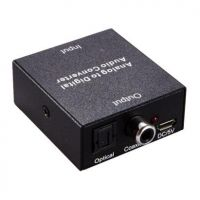 ANALOG RCA AND 3.5mm AUDIO TO DIGITAL AUDIO TOSLINK CONVERTER