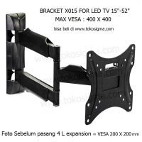 WALL BRACKET FULL MOTION WMX015 for FLAT TV 15 - 52 in