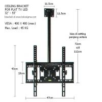 CEILING BRACKET FOR FLAT TV LED 32in-55in CP413