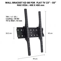 WALL BRACKET KZ-08 for FLAT TV 23in - 55in