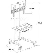 BRACKET TV STAND 960 FOR FLAT TV 32in - 65in