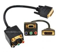 DVI-I SPLITTER CABLE TO YPBPR + VGA F