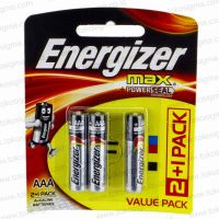 ENERGIZER MAX POWER SEAL E92 BATERAI ALKALINE 1.5V AAA LR03 ISI 3