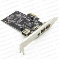 PCI-E CARD FIREWIRE IEEE1394a chipset VIA with CABLE