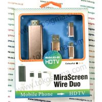 MIRASCREEN WIRE DUO A5-09 HDTV - EZCAST - IPHONE - TYPE C - MICRO USB