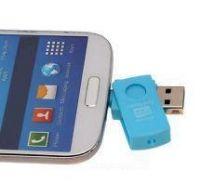 CONTOH PEMAKAIAN OTG CARD READER micro SD ANDROID / PC