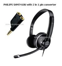 PHILIPS SHM 7410U PC HEADSET DYNAMIC SOUND with converter