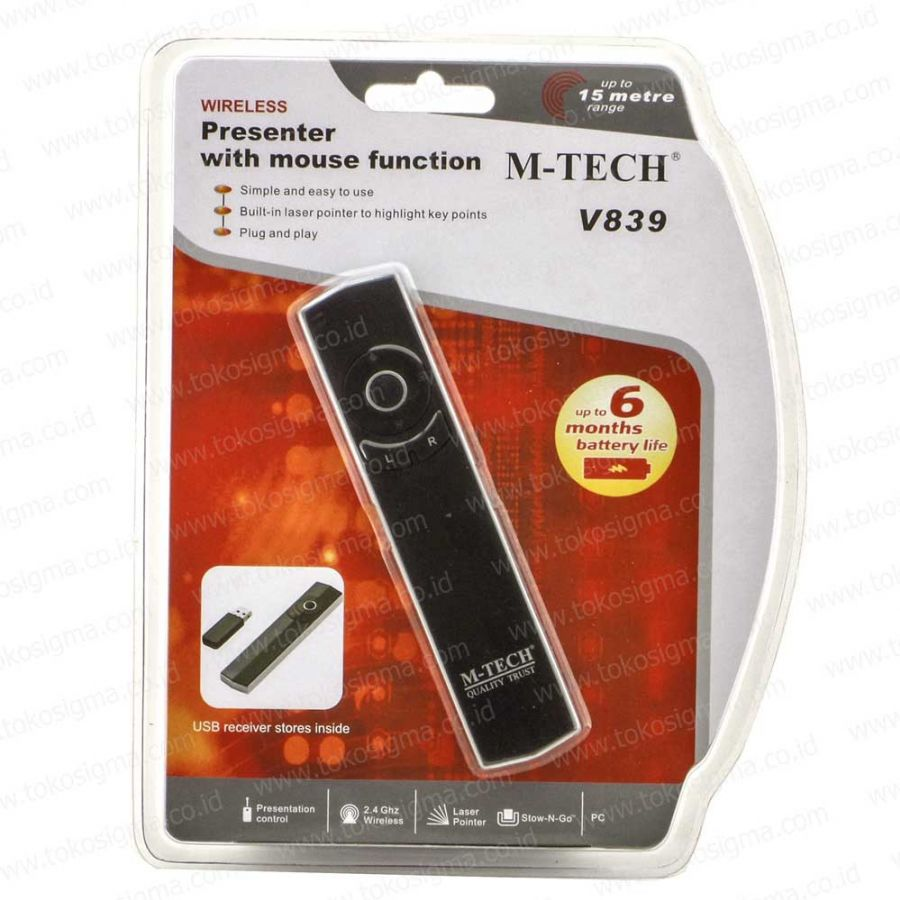 Usb Presenter With Mouse Function M Tech V839 Toko Sigma Optic Laser 5 Tombol